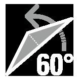 パラソル傾斜角60°