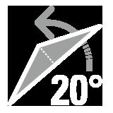 パラソル傾斜角20°