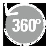支柱360°回転可能